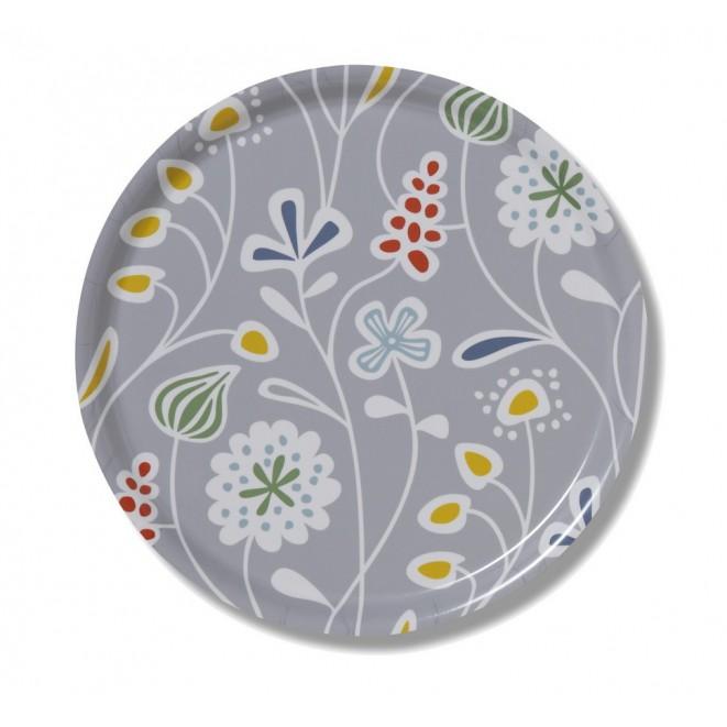 Round tray Meadow grey