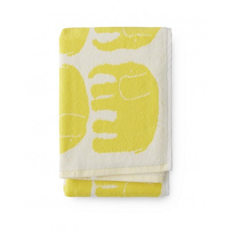 Hand towel Elefantti yellow 50 x 70