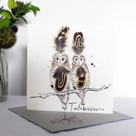 Art postcard AW Twitawooo 15 x 15