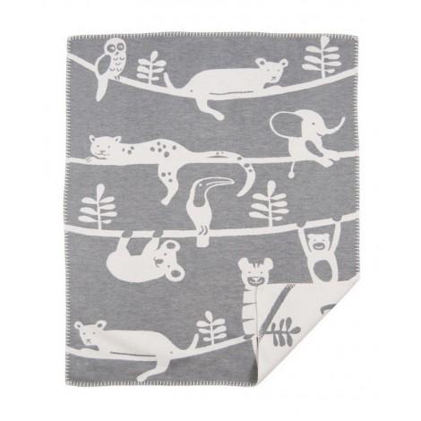Dětská bavlněná deka Siesta grey 70x90