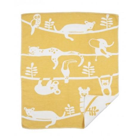 Dětská bavlněná deka Siesta yellow 70x90