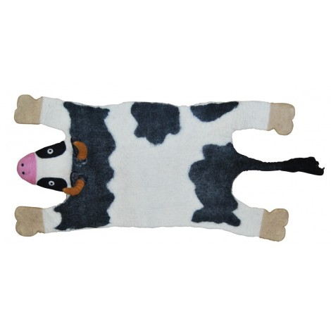 Woolen carpet Cow