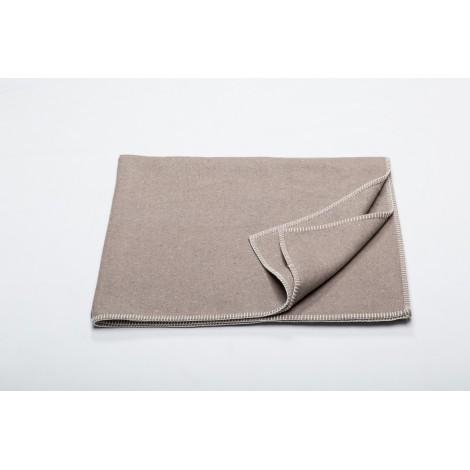 Cotton blanket Sylt mud