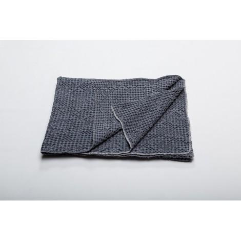 Cotton blanket  VIGO blue grey