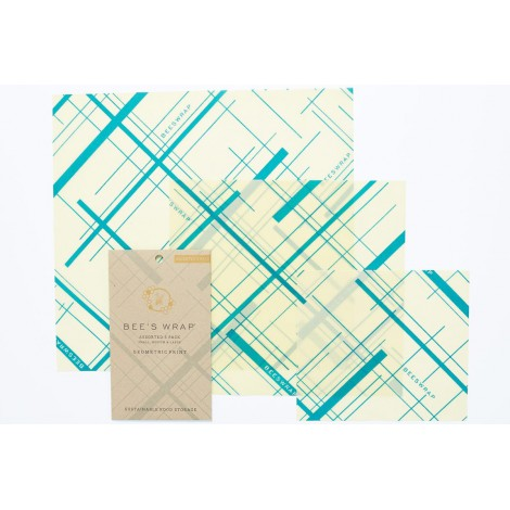Bee's Wrap Assorted Teal 3-pack