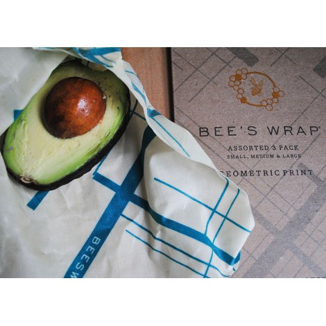 Potravinové ubrousky Bee's Wrap Assorted Teal 3-pack