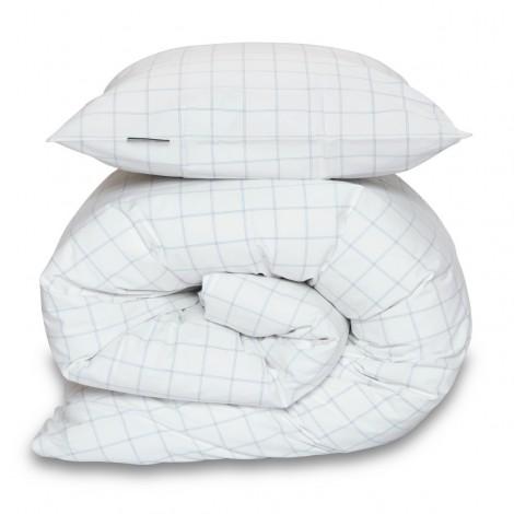 Bed linen Zebra Check ocean