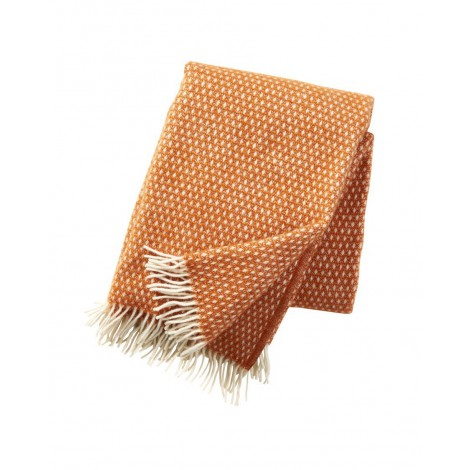 Wool throw Knut orange