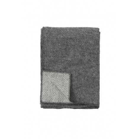 Wool throw Peak grey