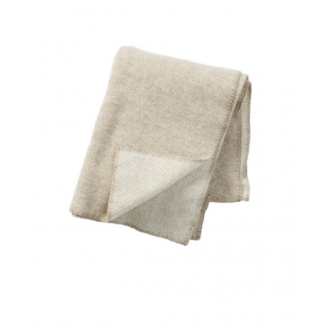 Wool throw Peak natural beige