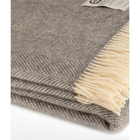 Vlněný přehoz na postel Dara dark grey 140 x 240