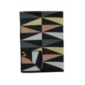 Wool blanket Art Deco multi