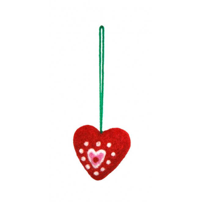 Felted christmas ornament Red Heart