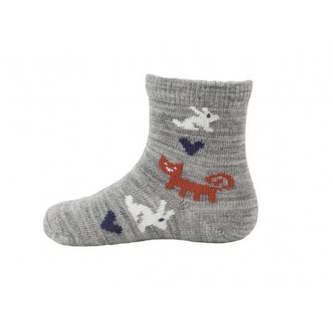 Kojenecké merino ponožky Rabbit grey