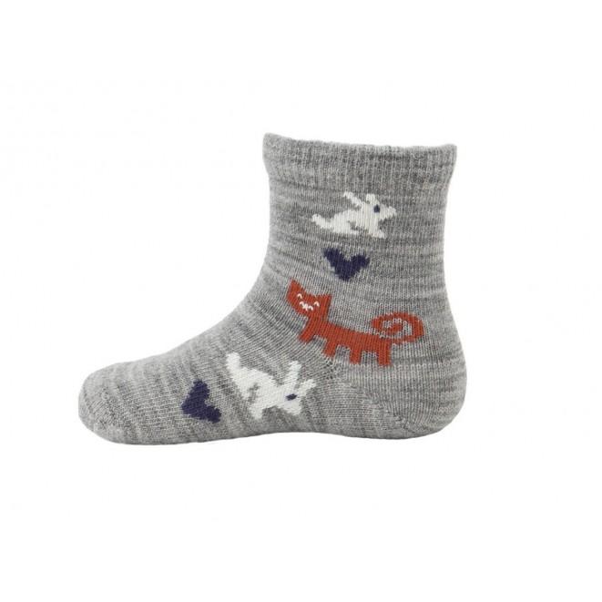 Baby merino socks Rabbit grey