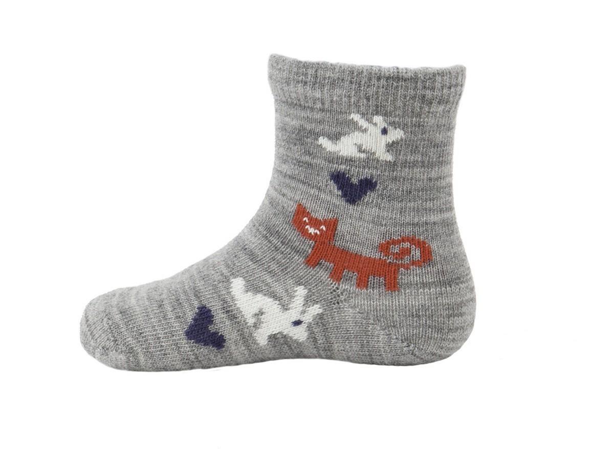 Kojenecké ponožky z merino vlny Rabbit grey - GET INSPIRED 717bdef406