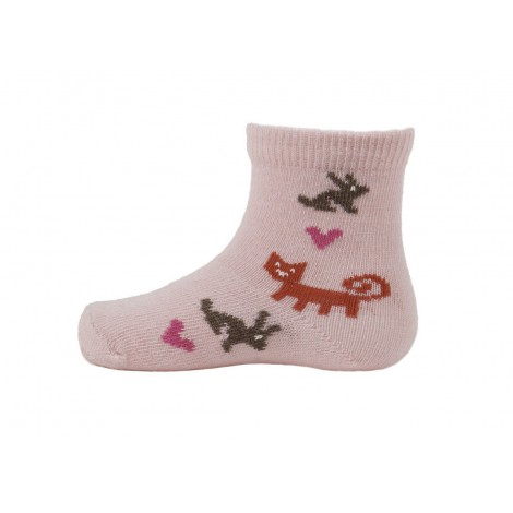 Baby merino socks Rabbit pink