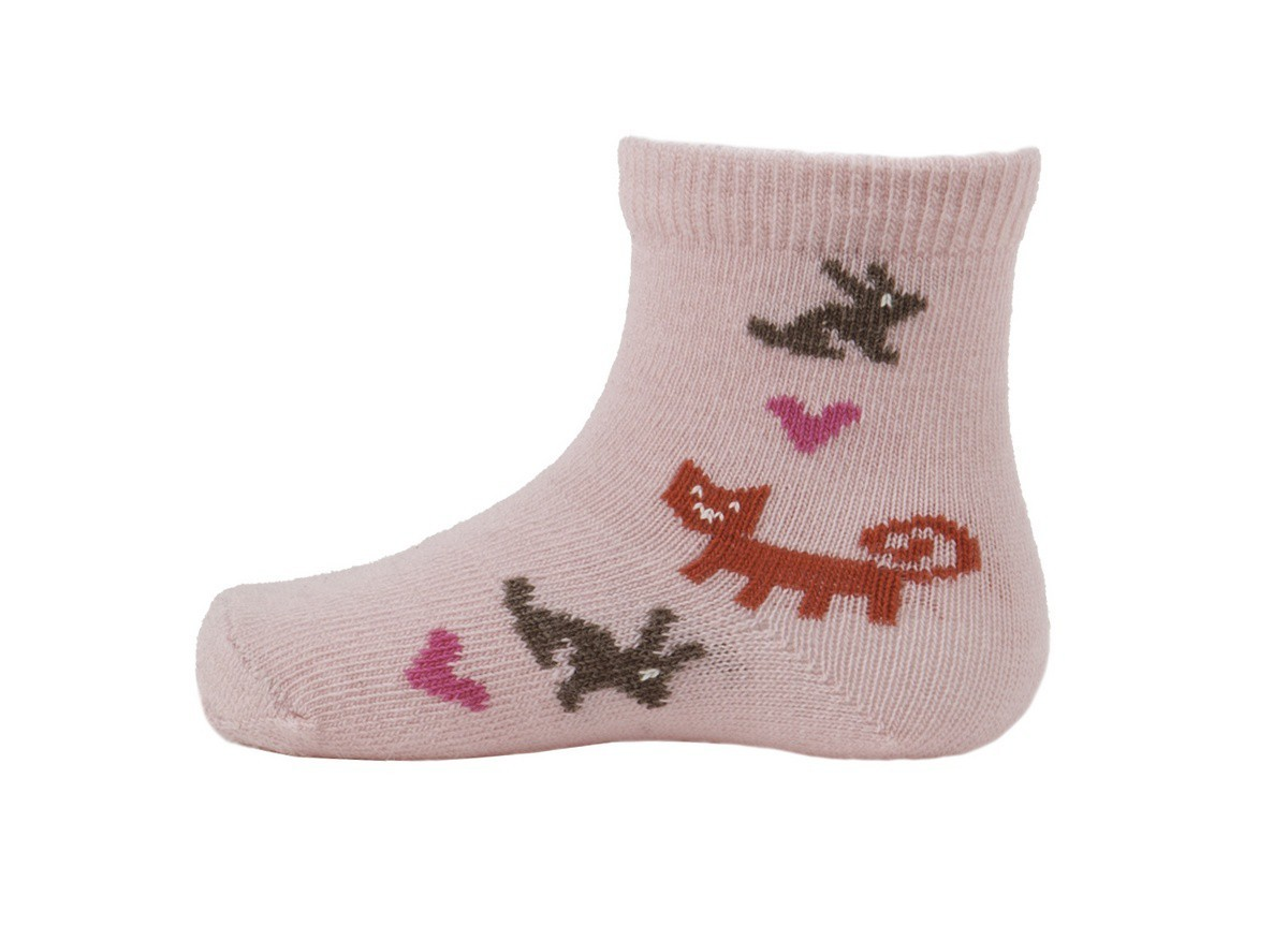 Kojenecké ponožky z merino vlny Rabbit pink - GET INSPIRED 1763357d9e