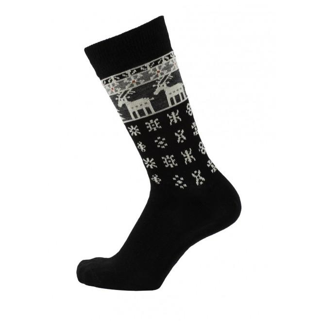 Merino ponožky Deer black