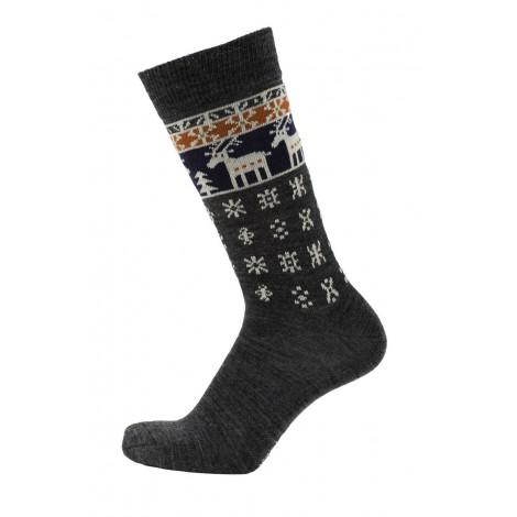Merino ponožky Deer antracite