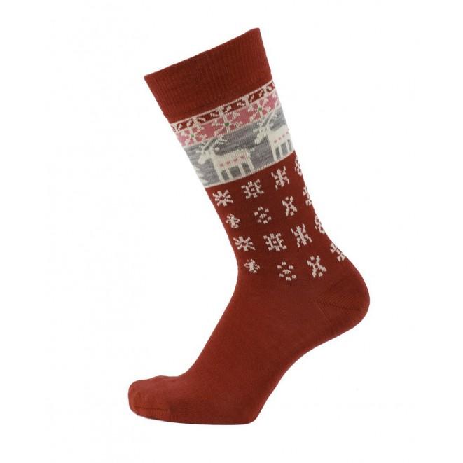 Merino ponožky Deer red