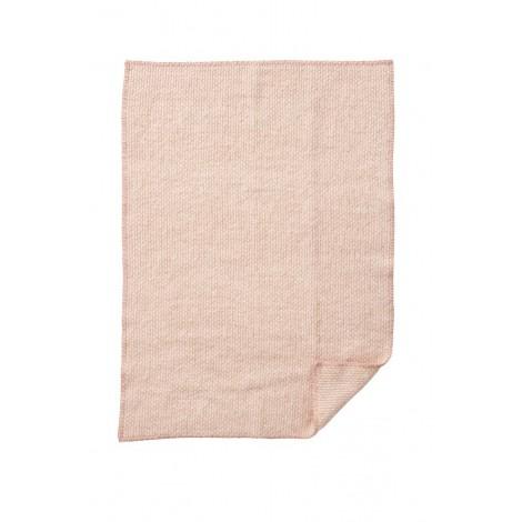 Woolen blanket Domino baby pink