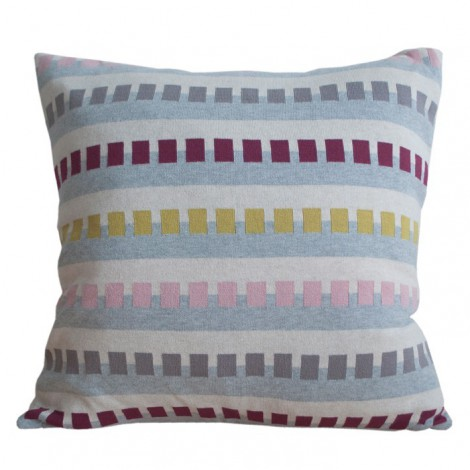 Knitted cushion Birk red