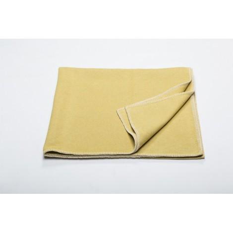 Cotton blanket SYLT mustard