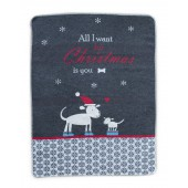 Cotton blanket  Cat & Dog Christmas