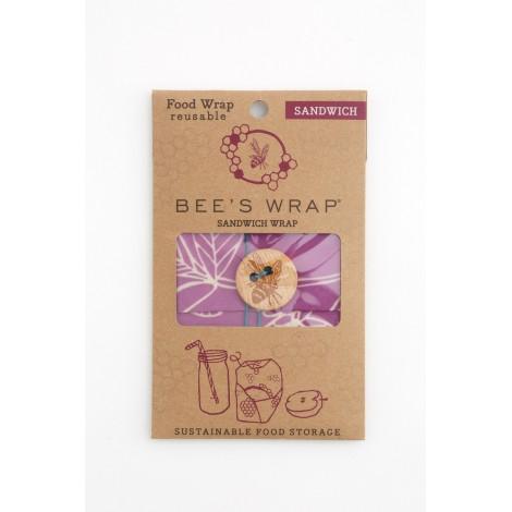 Voskovaný ubrousek Bee's Wrap Sandwich Mimi's Purple