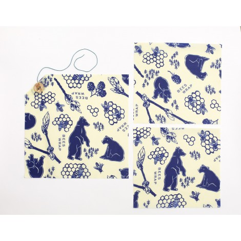 Sada ubrousků Bee's Wrap Bears & Bees 3-pack