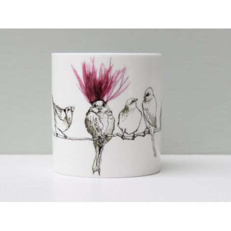Porcelain cup Midlife crisis