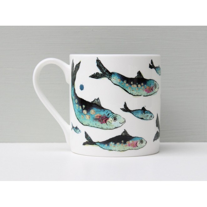 Porcelánový hrnek s rybou Fishy Friends