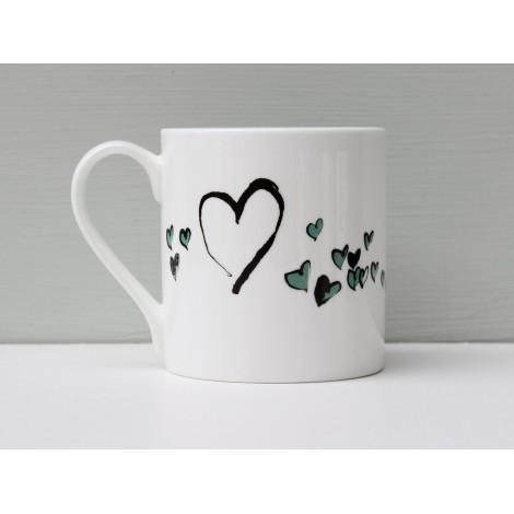 Porcelain mug I love you side