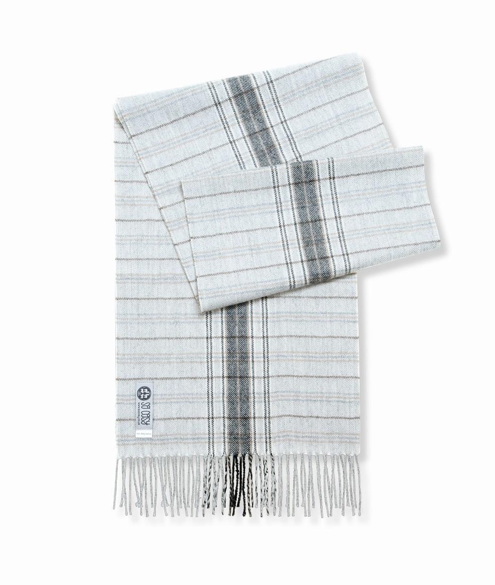 Šála Tess silver grey kostka (100% baby alpaca wool) - GET INSPIRED b0b0fb2ae4