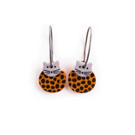 Earrings Cat 7D