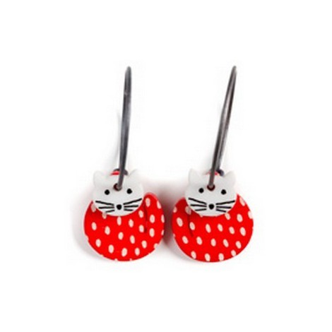 Earrings Cat 42C