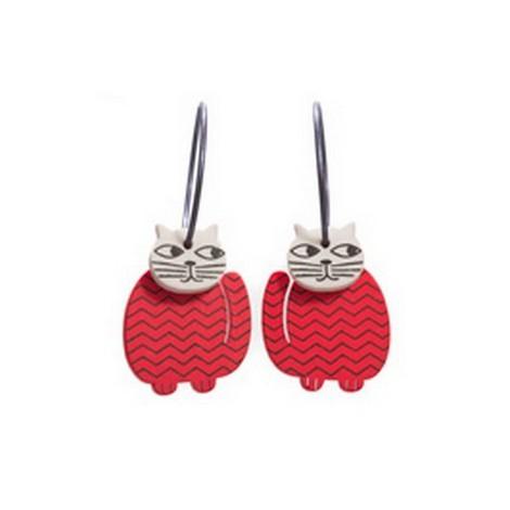 Earrings Cat 13D