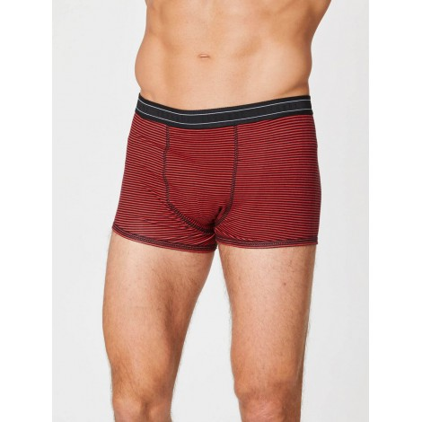 Boxers bamboo Gunn brick red strip