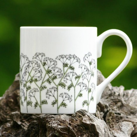 Porcelain mug Cow Parsley