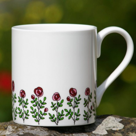 Porcelánový hrnek Roses multi