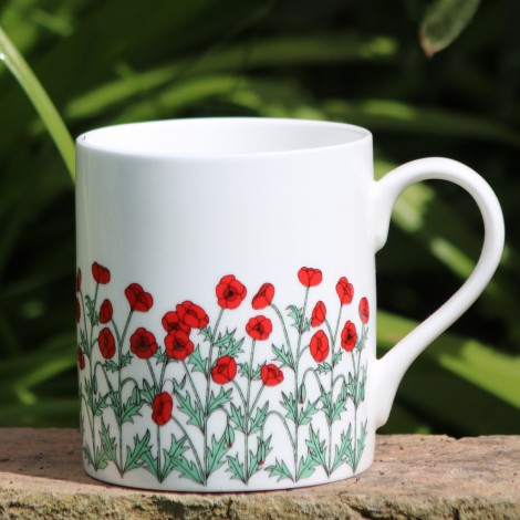 Porcelain mug Poppies