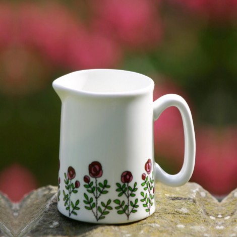 Milk jug Roses multi
