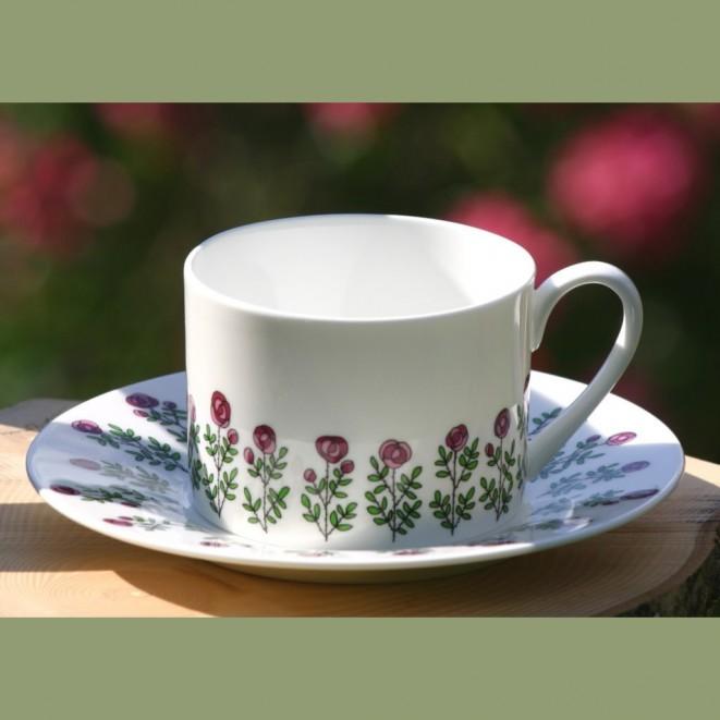 Porcelánový set šálek s podšálkem Roses multi