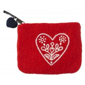 Peněženka Heart & Flower red