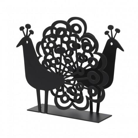 Držák na ubrousky Páv Peacock black