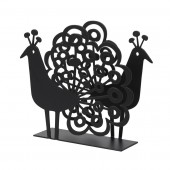 Napkin holders Peacock black