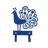 Kovový věšáček Peacock blue