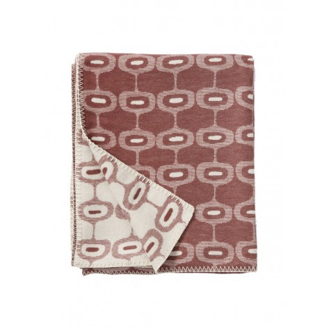 Cotton blanket Doris rose brown