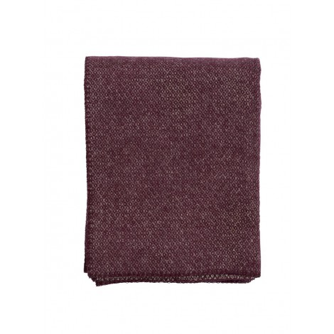 Wool throw Peak bordo